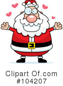 Royalty-Free (RF) Santa Clipart Illustration #104207