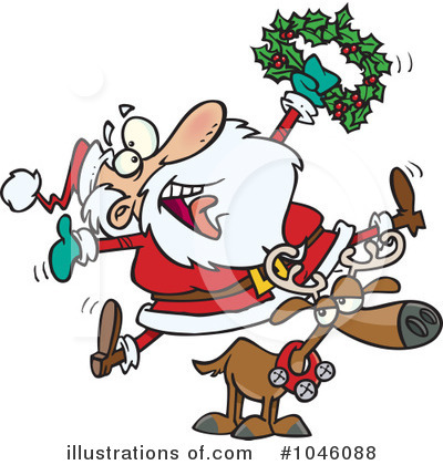 Reindeer Clipart #1046088 by toonaday