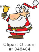 Royalty-Free (RF) santa Clipart Illustration #1046404