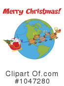 Santa Clipart #1047280 by Hit Toon