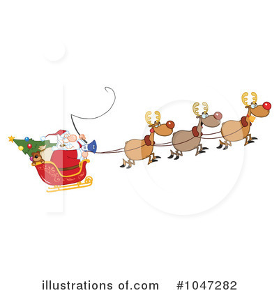 Santa Clipart #1047282 by Hit Toon