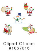 Santa Clipart #1067016 by Hit Toon