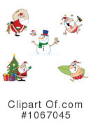 Santa Clipart #1067045 by Hit Toon