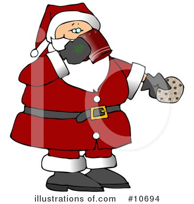 Royalty-Free (RF) Santa Clipart Illustration by Dennis Cox - Stock Sample #10694