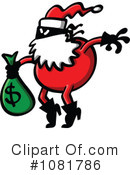 Royalty-Free (RF) santa Clipart Illustration #1081786