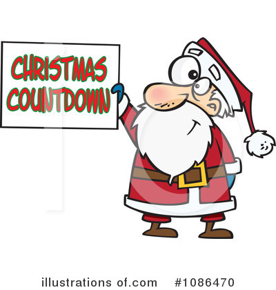 Royalty-Free (RF) Santa Clipart Illustration by toonaday - Stock Sample #1086470
