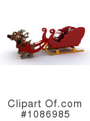 Royalty-Free (RF) Santa Clipart Illustration #1086985