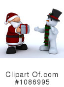Royalty-Free (RF) santa Clipart Illustration #1086995