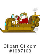 Royalty-Free (RF) santa Clipart Illustration #1087103