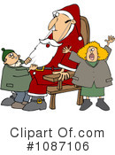 Royalty-Free (RF) santa Clipart Illustration #1087106