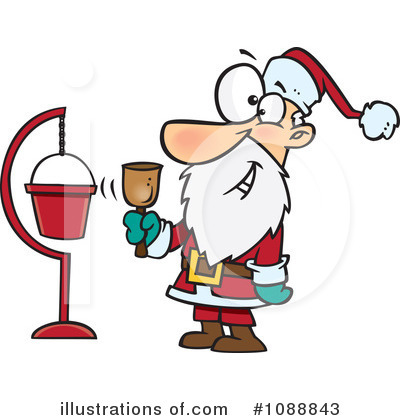 Santa Clipart #1088843 by toonaday