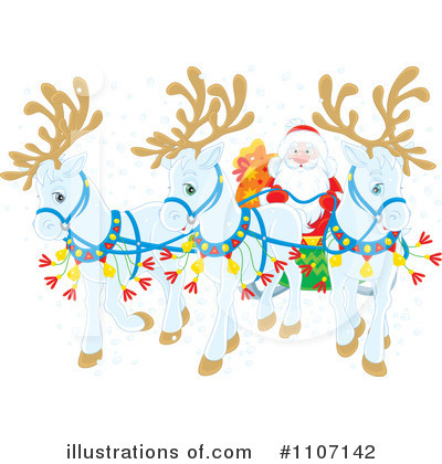 Reindeer Clipart #1107142 by Alex Bannykh