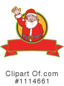 Royalty-Free (RF) santa Clipart Illustration #1114661