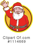 Royalty-Free (RF) santa Clipart Illustration #1114669