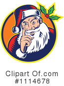 Royalty-Free (RF) santa Clipart Illustration #1114678