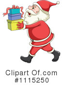 Royalty-Free (RF) Santa Clipart Illustration #1115250