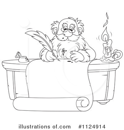 Royalty-Free (RF) Santa Clipart Illustration by Alex Bannykh - Stock Sample #1124914
