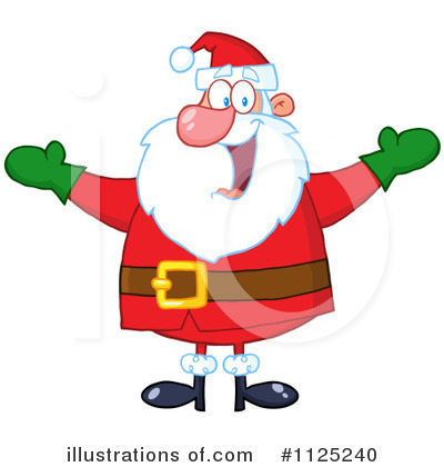 Santa Clipart #1125240 by Hit Toon