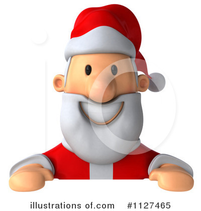 Royalty-Free (RF) Santa Clipart Illustration by Julos - Stock Sample #1127465