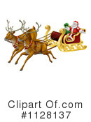 Royalty-Free (RF) Santa Clipart Illustration #1128137