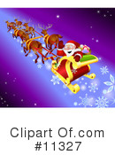 Royalty-Free (RF) Santa Clipart Illustration #11327