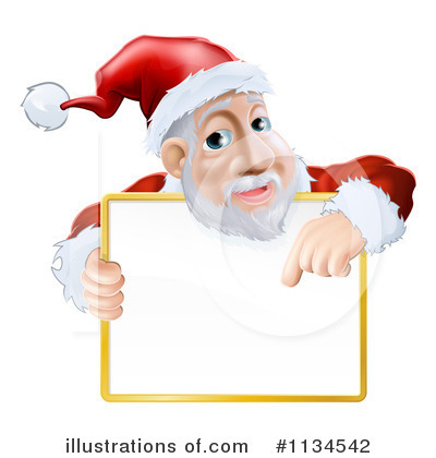 Royalty-Free (RF) Santa Clipart Illustration by AtStockIllustration - Stock Sample #1134542