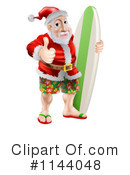 Royalty-Free (RF) Santa Clipart Illustration #1144048