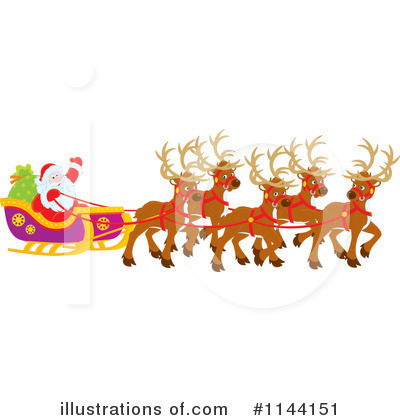 Royalty-Free (RF) Santa Clipart Illustration by Alex Bannykh - Stock Sample #1144151