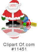 Royalty-Free (RF) Santa Clipart Illustration #11451