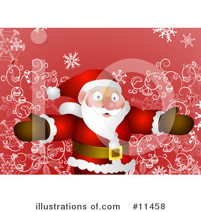 Royalty-Free (RF) Santa Clipart Illustration by AtStockIllustration - Stock Sample #11458