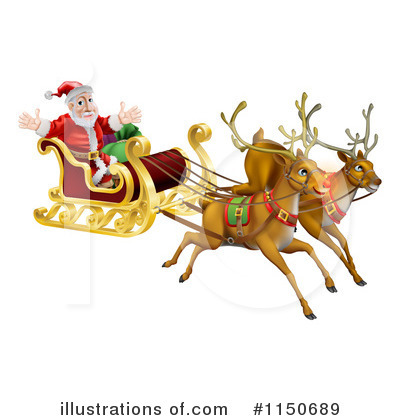 Royalty-Free (RF) Santa Clipart Illustration by AtStockIllustration - Stock Sample #1150689