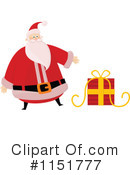 Royalty-Free (RF) santa Clipart Illustration #1151777