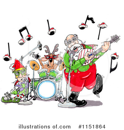 Music Band Clipart #1151864 by Spanky Art
