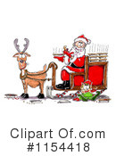 Royalty-Free (RF) Santa Clipart Illustration #1154418