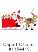 Royalty-Free (RF) Santa Clipart Illustration #1154419