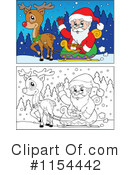 Royalty-Free (RF) Santa Clipart Illustration #1154442