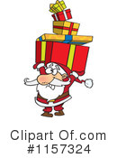 Royalty-Free (RF) santa Clipart Illustration #1157324