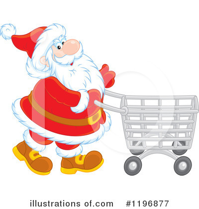 Christmas Shopping Clipart #1196877 by Alex Bannykh