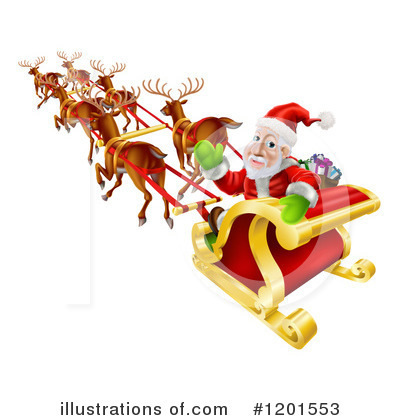 Santa Clipart #1201553 by AtStockIllustration