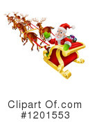 Royalty-Free (RF) Santa Clipart Illustration #1201553