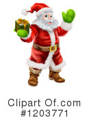 Royalty-Free (RF) Santa Clipart Illustration #1203771