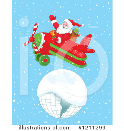 Royalty-Free (RF) Santa Clipart Illustration by Pushkin - Stock Sample #1211299