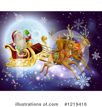 Royalty-Free (RF) Santa Clipart Illustration by AtStockIllustration - Stock Sample #1219416