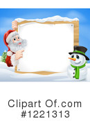 Santa Clipart #1221313 by AtStockIllustration