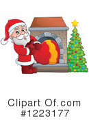 Royalty-Free (RF) Santa Clipart Illustration #1223177