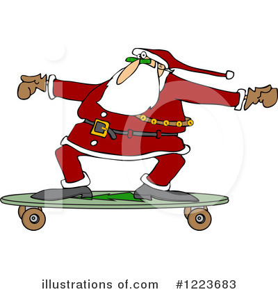 Skateboarding Clipart #1223683 by djart