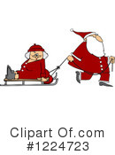 Royalty-Free (RF) Santa Clipart Illustration #1224723