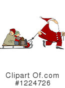 Royalty-Free (RF) Santa Clipart Illustration #1224726