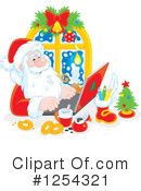 Santa Clipart #1254321 by Alex Bannykh