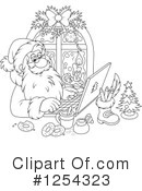Santa Clipart #1254323 by Alex Bannykh